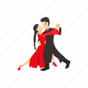 argentina, cartoon, couple, dance, dancer, passion, tango icon