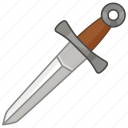 blade, dagger, eating, knife, knight, murder, weapon icon