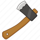 axe, chopping, hand, hatchet, throwing, wood icon