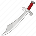 blade, cutlass, saber, sabre, scimitar, sword, weapon icon