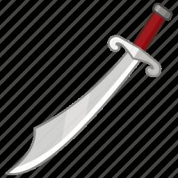 blade, cutlass, saber, sabre, scimitar, sword, weapon icon