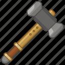 repair, tool, smith, warhammer, gavel, hammer, weapon