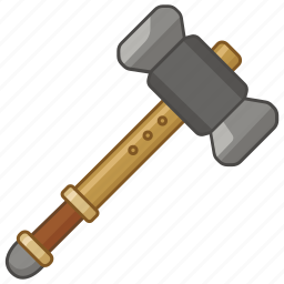 gavel, hammer, repair, smith, tool, warhammer, weapon icon