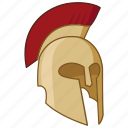 ancient, corinthian, greek, helm, helmet, spartan, trojan icon