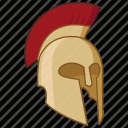 ancient, corinthian, greek, helm, helmet, spartan, trojan icon