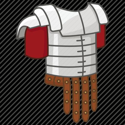 armor, armour, body, cuirass, legion, legionary, roman icon