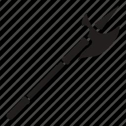 halberd, halberdier, halbert, pole, swiss, voulge, weapon icon