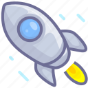 begin, missile, start, startup icon