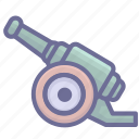 arm, armament, arms, cannon, firearm, weapon, weaponry icon