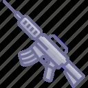 arm, armament, arms, firearm, gun, submachine, weapon, weaponry icon
