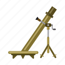 army, military, mine-thrower, mortar, war, weapon icon