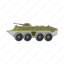 armored personnel carrier, army, fighting machine, military, war, weapon icon