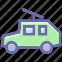 army, army van, car, gun, machine, military, vehicle, war, weapon icon
