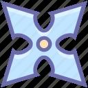 japanese, karate, ninja, plain, sharpen, shuriken, star, throwing, weapon icon