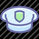 air, cap, equipment, force, hat, police cap, police hat, uniform icon