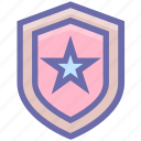 army, badge, law, military, police, security, sheriff, star, war icon
