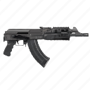 ak47, auto, gun, terrorist, weapon icon