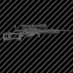gun, riffle, snipper, weapon icon