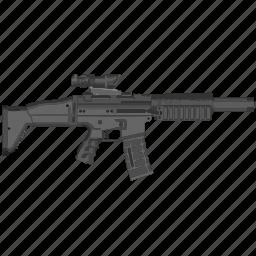 army, automatic, gun, mashine, usa, weapon icon