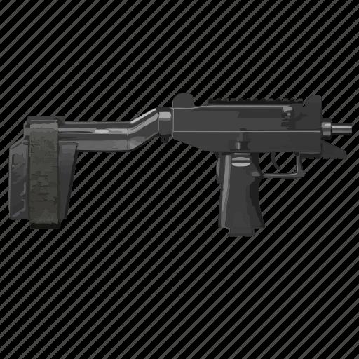 automatic, gun, mashine, uzi, weapon icon