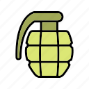 bomb, explosion, grenade, military, war icon