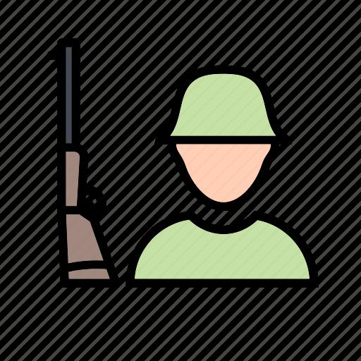 army, shotgun, soldier icon