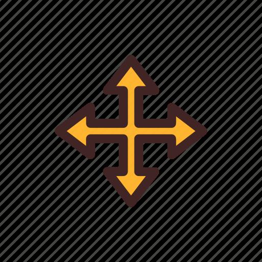 arrow, direction, location, move, navigation, pointer icon