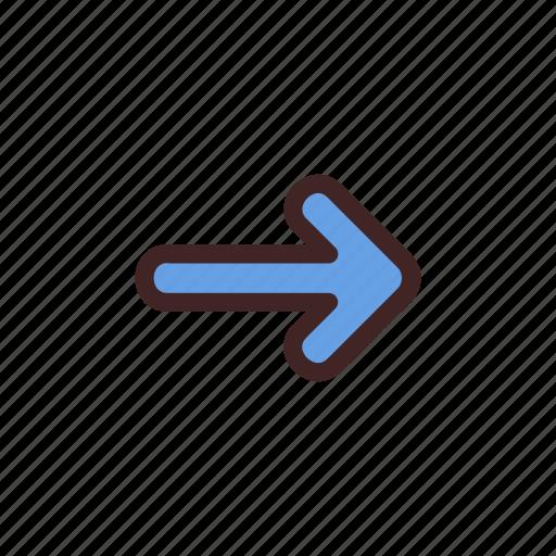 arrow, direction, location, move, next, right icon