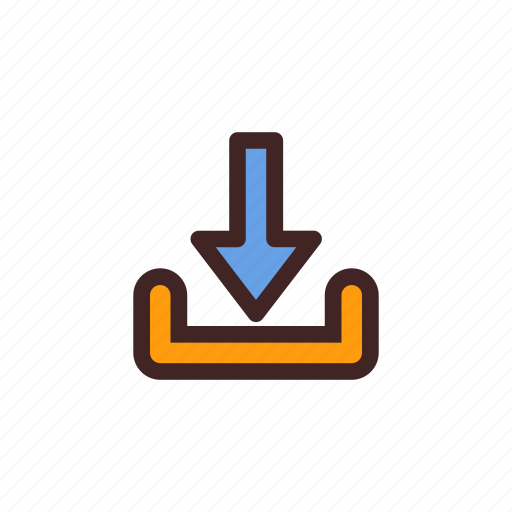 data, document, down, download, file, storage icon