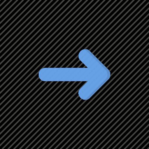 arrow, navigation, next, pointer, right icon