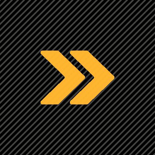 arrow, fast, forward, navigation, next, right icon