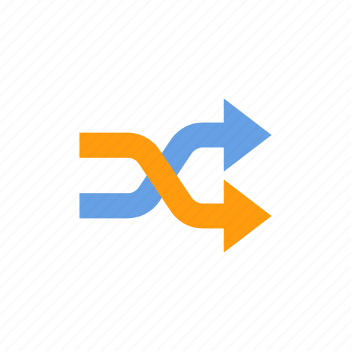 arrow, mix, music, random, shuffle icon