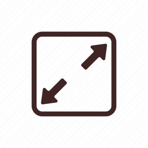 enlarge, expand, full size, fullscreen, screen icon
