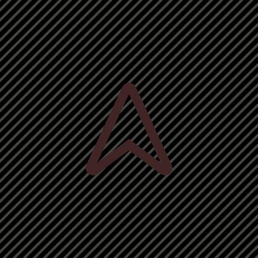 arrow, cursor, direction, navigation, pointer, up icon