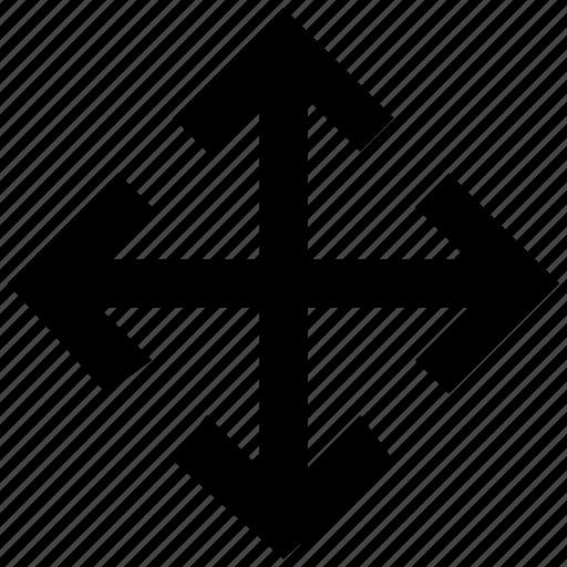 arrow, arrows, directions, expand, maximize icon