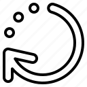 arrow, direction, processing