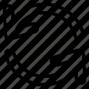 arrow, direction, loop, synchronize