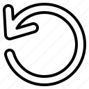 arrow, direction, undo