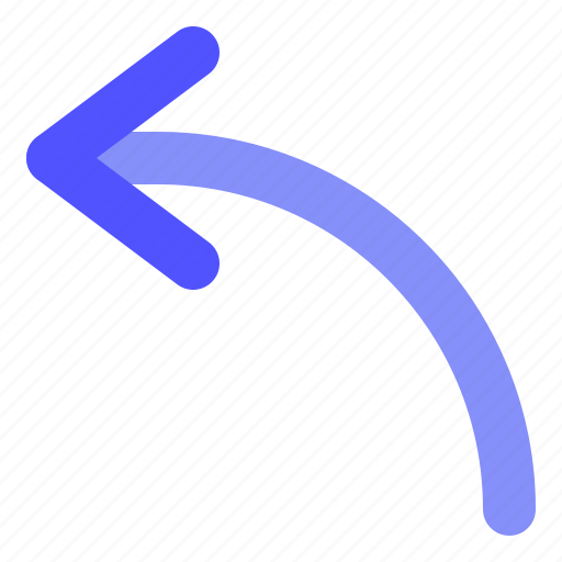 Arrow, curved, direction, left icon - Download on Iconfinder