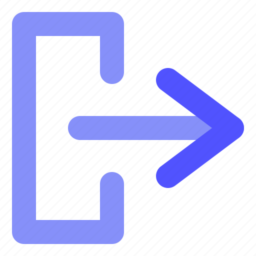 Arrow, direction, logout icon - Download on Iconfinder