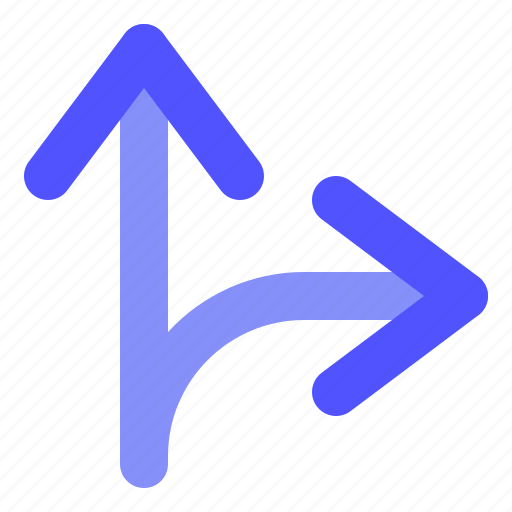 Arrow, direction, right, sideroad icon - Download on Iconfinder