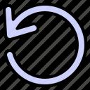 arrow, direction, undo icon