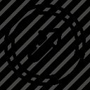 arrow, arrows, direction, right, top