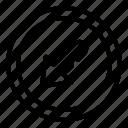 arrow, arrows, bottom, direction, left