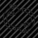 arrow, circle, sign