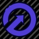 arrow, arrows, direction, circle