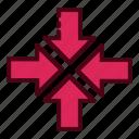 arrow, arrows, collapse, direction, minimize