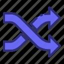 arrow, arrows, direction, shuffle, switch