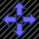 arrow, arrows, crossroad, direction, drawn, resize