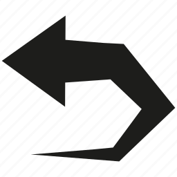 arrow, cursor, curve, direction icon